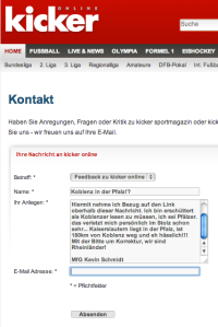 Kicker online schmäht Koblenz!