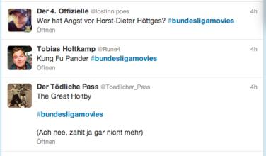 Screenshot Twitter #bundesligamovies