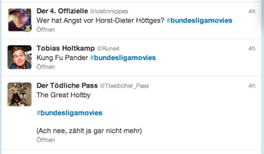 Screenshot Twitter #bundesligamovies