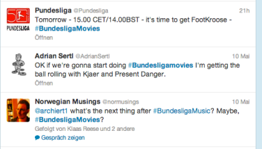 Screenshot Twitter #bundesligamusic