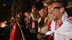 Die Bayern Meisterfeier auf dem Rathausbalkon